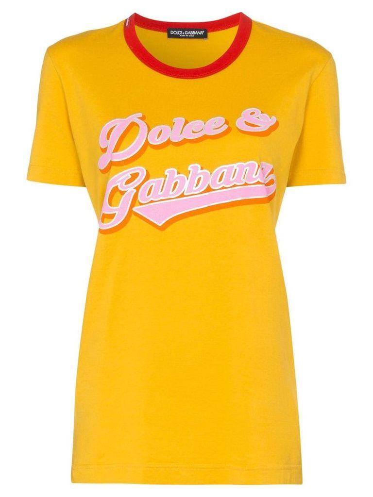 Dolce & Gabbana logo printed T-shirt - Yellow