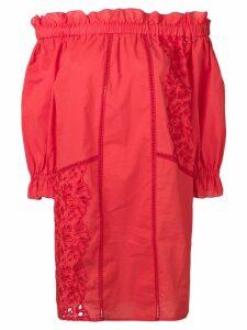 Ermanno Scervino loose fit bardot dress - Red