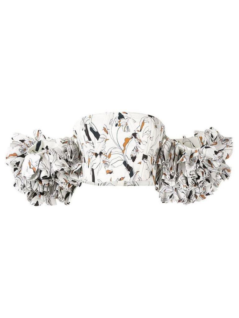Acler Yorks frilled sleeve bodice - White