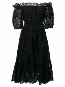 Ulla Johnson off-the-shoulder broderie anglaise dress - Black