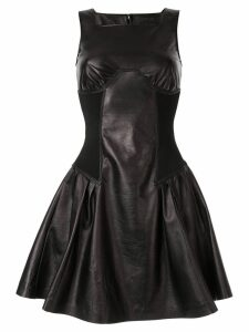 Neil Barrett leather mini dress - Black