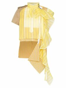 Sacai asymmetric draped detail blouse - Yellow