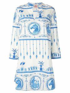 Le Sirenuse grecian print tunic top - White