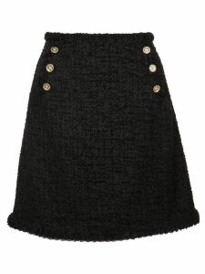 Edward Achour Paris short tweed skirt - Black