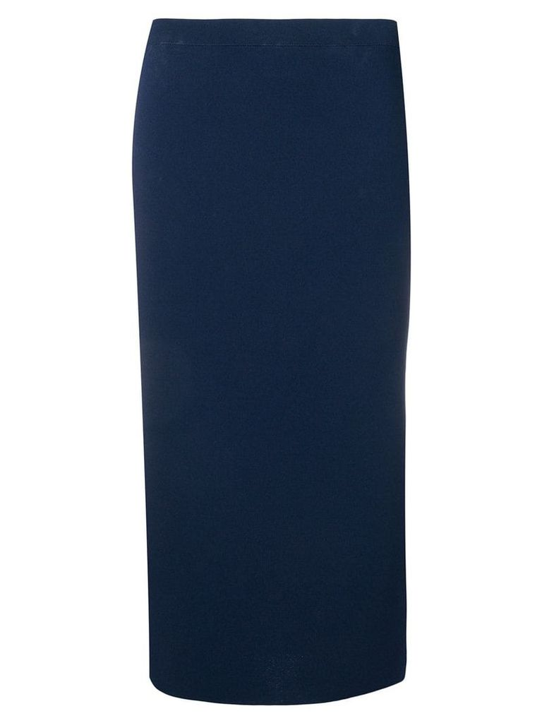 D.Exterior fitted midi skirt - Blue
