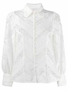 Zimmermann floral lace shirt - Neutrals