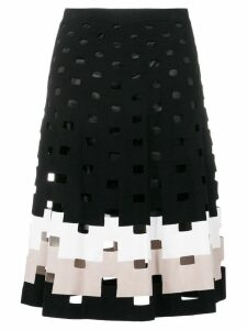 D.Exterior laser cut detail skirt - Black