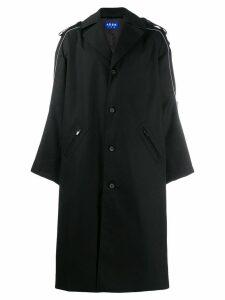 Ader Error oversized trench coat - Black