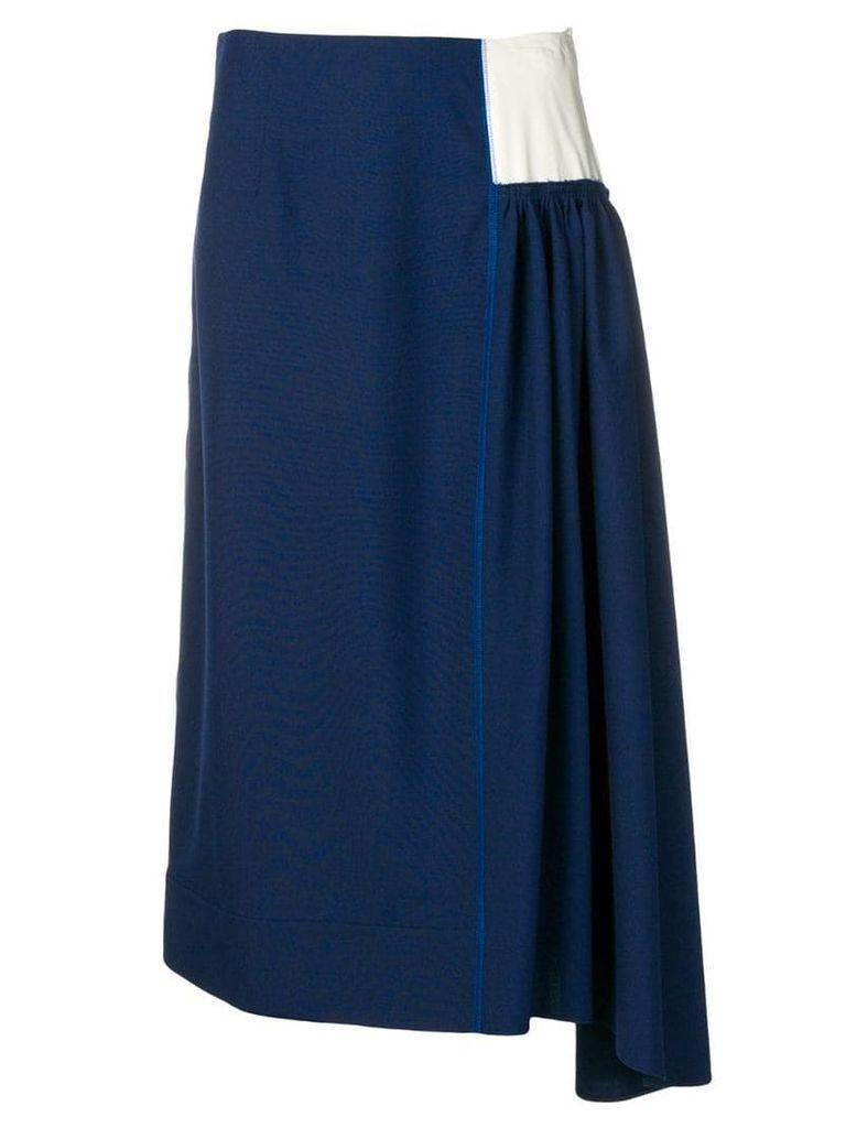Marni asymmetric skirt - Blue