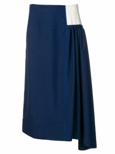 Marni asymmetric skirt - Blue