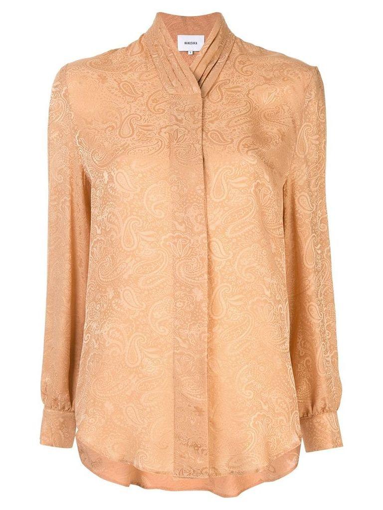 Nanushka Felice paisley shirt - Brown