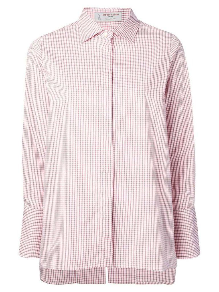 Alberto Biani checked shirt - Red