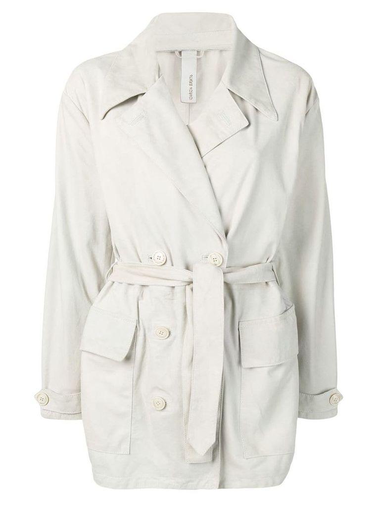 Giorgio Brato short trench coat - Grey