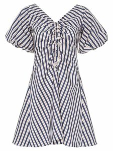 Paper London Sisi striped mini dress - Blue