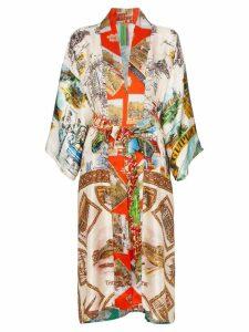 Rianna + Nina Souvenir silk belted kimono - Multicoloured