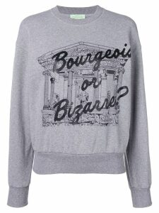 Aries 'Bourgeois or Bizarre' sweatshirt - Grey
