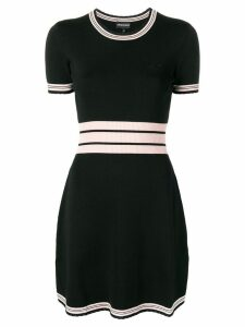 Emporio Armani contrast stripes knitted dress - Black