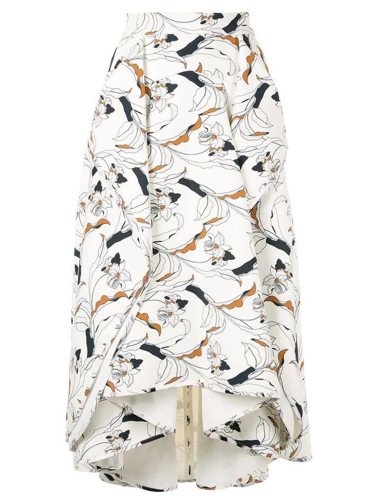 Acler Wilsdon floral asymmetric skirt - White