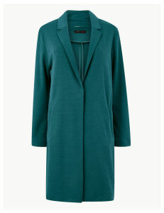 M&S Collection Knitted Single Breasted Coat