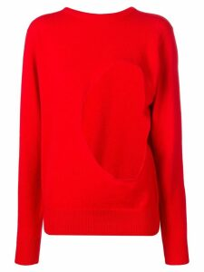 Aries cut out jumper - Red