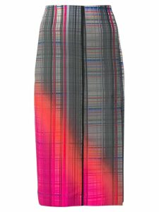 Sportmax checked pencil skirt - Grey
