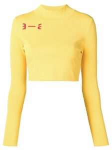 Artica Arbox cropped long-sleeved tee - Yellow