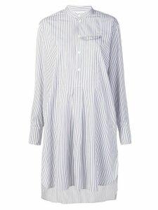 Marni striped shirt dress - White