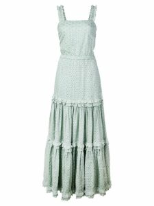 Alexis Milada broderie anglaise tiered dress - Green