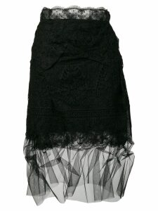 Ermanno Scervino lace tulle skirt - Black