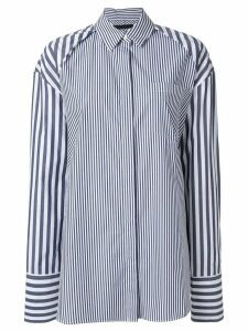 Juun.J oversized multi-stripe shirt - White