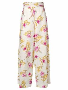 Amur high-rise floral trousers - Multicolour