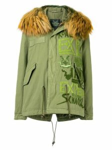 Mr & Mrs Italy embroidered midi parka - C3157