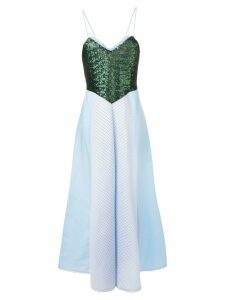 Gina sequinned bodice dress - Blue