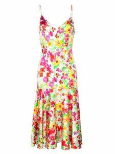 Caroline Constas floral mermaid midi dress - Multicolour