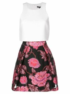Black Halo floral A-line skirt