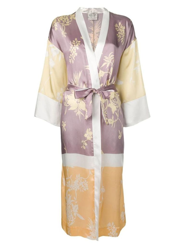 Forte Forte floral print kimono - Purple