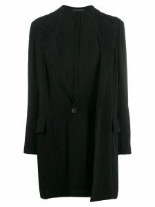 Yohji Yamamoto layered coat - Black