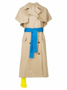 MSGM short sleeve trench coat - Neutrals