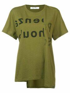 Proenza Schouler Split Logo T-Shirt - Green
