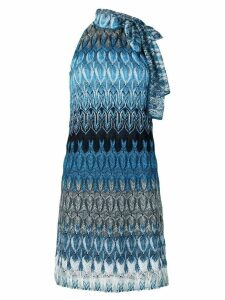 Missoni knitted style dress - Blue