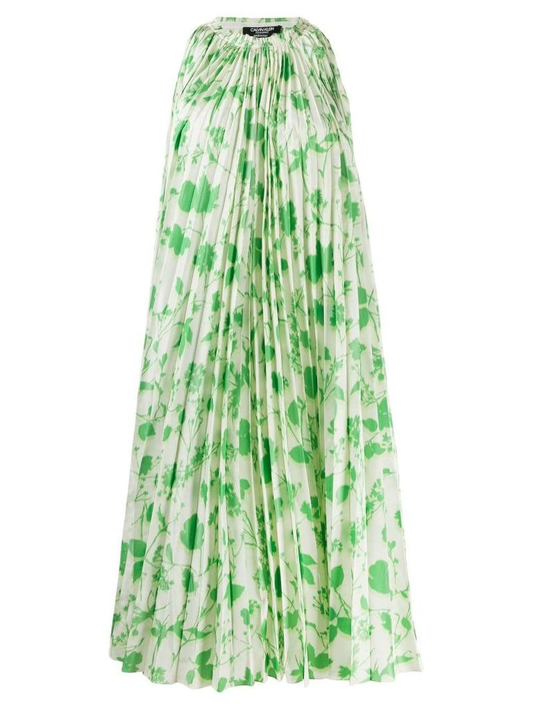 Calvin Klein 205W39nyc floral-print pleated dress - Green