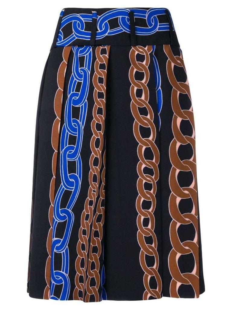 Marni cable chain print skirt - Black