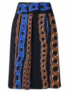 Marni cable chain print skirt - Black