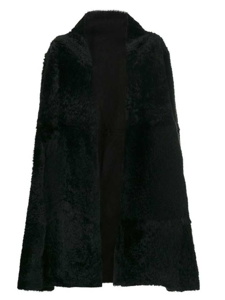 Yves Salomon oversized coat - Black