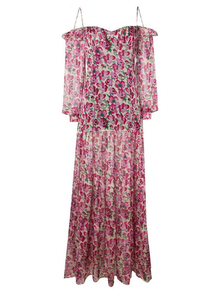 Raquel Diniz floral print dress - Pink