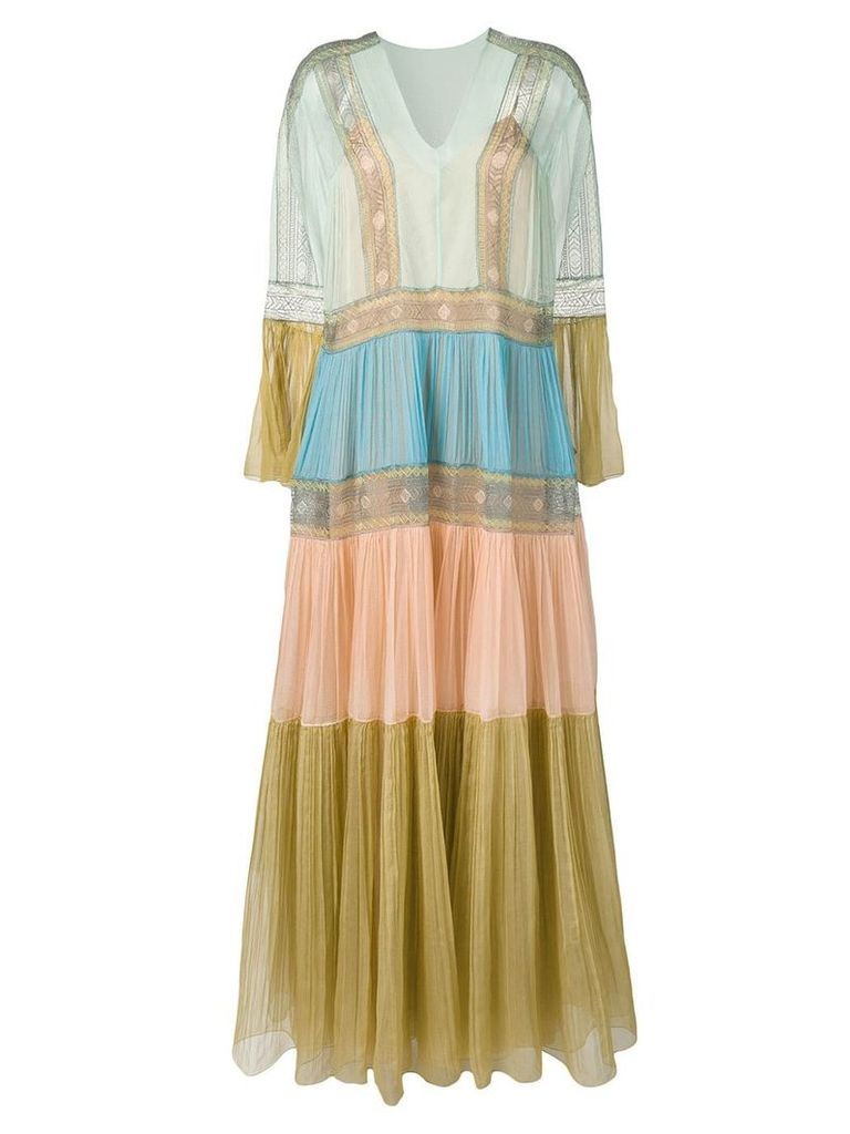 Alberta Ferretti oversized maxi dress - Neutrals