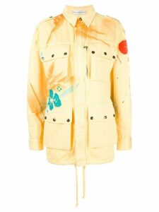 Faith Connexion hand-painted abstract mid coat - Yellow