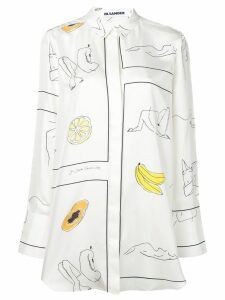 Jil Sander sketch print shirt - White
