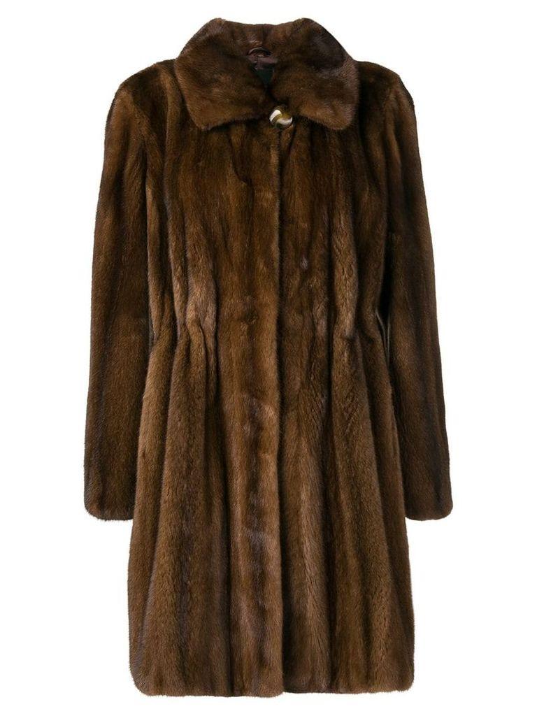 Liska fur midi coat - Brown