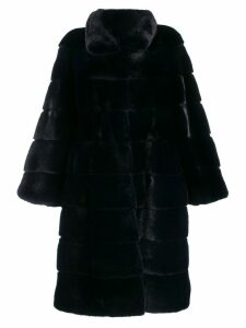 Liska oversized midi coat - Blue